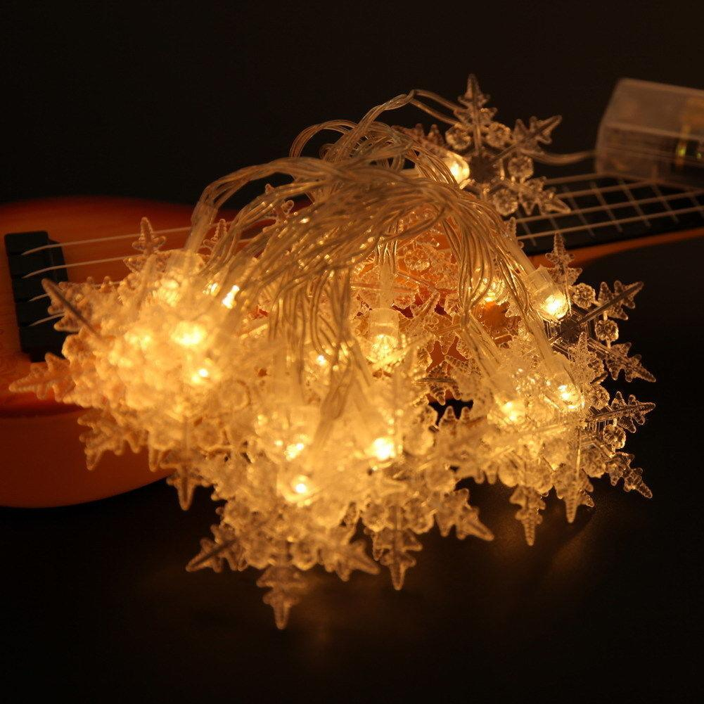 PROBE SHINY 2M 20 LED Snow Shape LED String Holiday Light Christmas Wedding Curtain Lights Outdoor Activeties Decoration