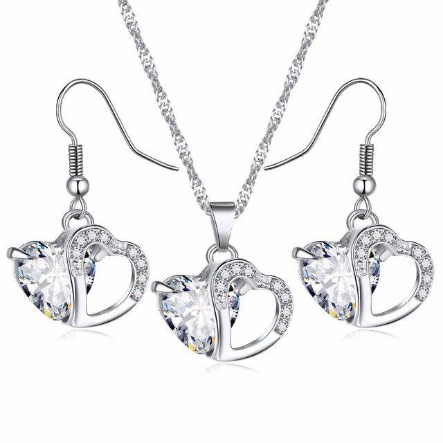 FAMSHIN, 2018, oferta de locura, 6 colores, colgante de corazón a la moda para mujer de primera clase, joyería de cristales para collar, joyería nueva para chicas y mujeres 4