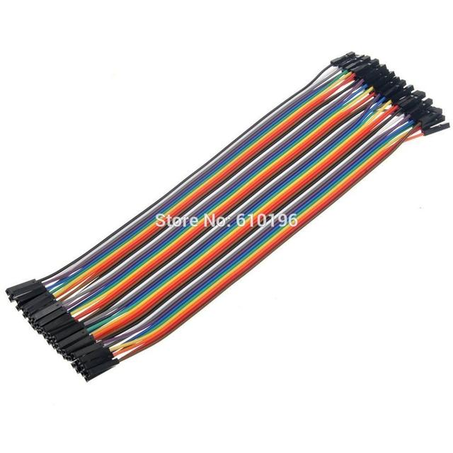 40PCS in Row Dupont Cable 1P-1P 20CM Female to Female Dupont Jumper Wire Line