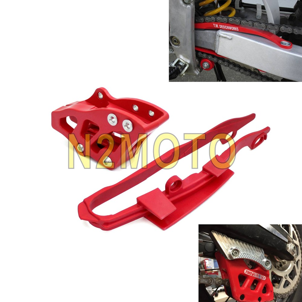 Racing Motocross Dirt Bike Swingarm Chain Guide Guard and Chain Slider Guard Protector for <font><b>Honda</b></font> CR <font><b>CRF</b></font> 125 250 <font><b>450</b></font> R X 00-07 image