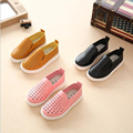 Spring & Winter New Design Hollow Soild Color Casual Shoe For Baby Girl Star Flat Bottom Shoe Breathable Footwear for Kids Girl