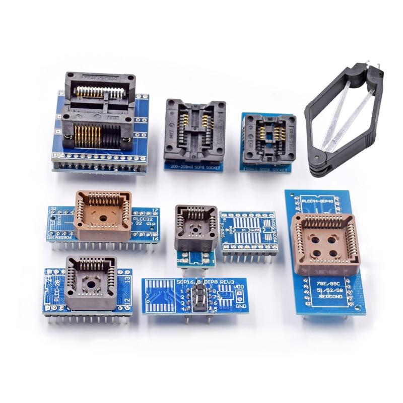 Weikedz SOP PLCC 8 Enchufes Adaptadores Programador W/IC Extractor Para TL866CS TL866A EZP2010 Electronic Kits DIY
