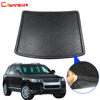 Cawanerl Car Floor Trunk Mat Boot Tray Liner Tail Cargo Carpet Luggage Mud Pad Styling For Volkswagen Touareg 2004 2010