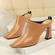 hot deal buy 2018 fashion contracted wind shoes comfortable thick with high heels embroider line show thin  female sex appeal womens shoes