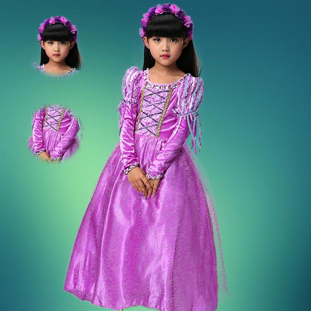Fantasia Vestidos girl wedding dress princess dresses girl rapunzel costume kid rapunzel dress Princess costume girl party dress