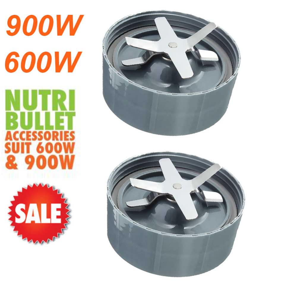 2pcs Extractor Cross Blade Replacement Parts for Nutribullet Nutri Bullet 900W and 600W NEW IMPROVED DESIGN