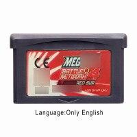 MegaaMan Battle Network 4 - Red Sun 32 Bit Video Game Cartridge Console Card UKV Version English