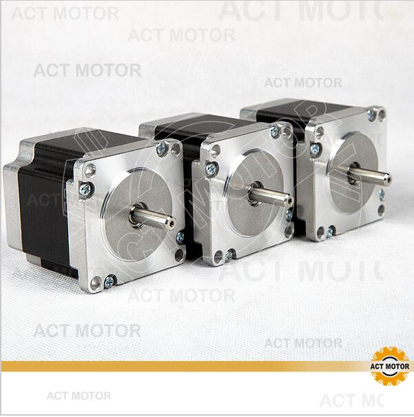 ACT Motor 3PCS Nema23 Stepper Motor 23HS6620 Single Shaft 185oz-in 56mm 2A 6-lead 2Phase CE ROHS ISO CNC Router Kit free shipping 42hs4017a4 1 8 degree 20mm 2phase hybrid stepper motor nema17 bipolar step motor single shaft 1 7a ce rohs