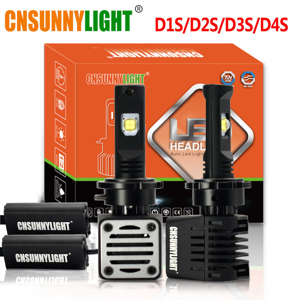 CNSUNNYLIGHT No Error D1S D2S D3S D4S D2H LED Headlight Car Bulbs 14000Lm w/LUMILEDS MX70 Chips Automotive Lights High Low Beam