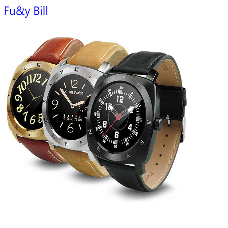 ФОТО DM88 Bluetooth Watch Stainless Steel Bluetooth heart rate smart watch voice control movement step Watch