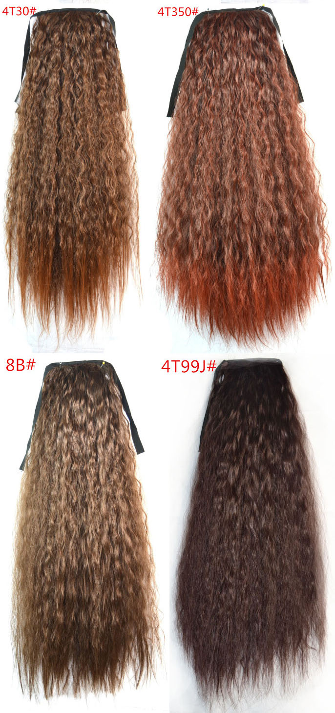 Fashion Women Ponytails Hair Extensions Black