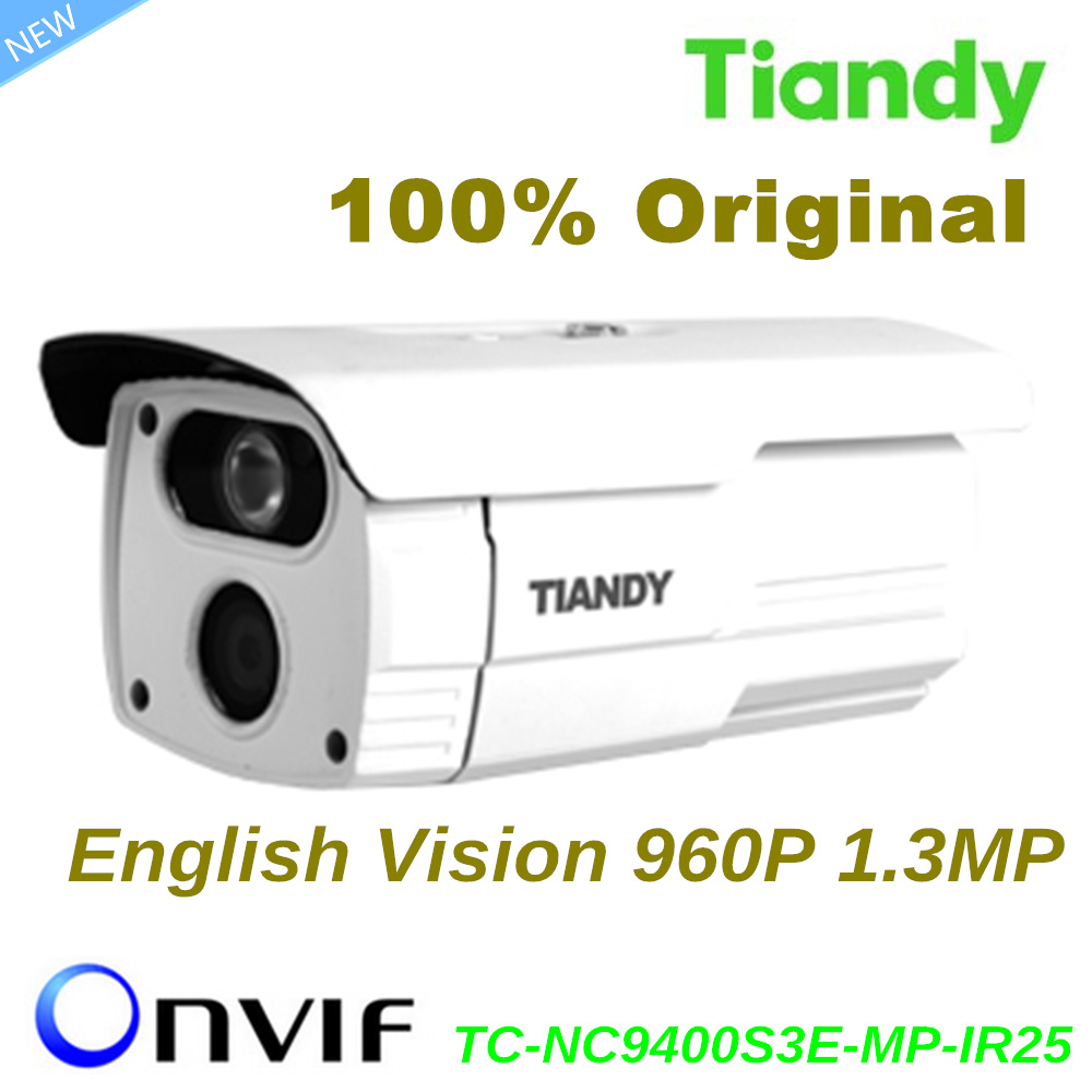 Original Tiandy IP Camera TC-NC9400S3E-MP-IR25 English Version 960P 1.3MP Waterproof IP66 Outdoor CCTV Camera Support Onvif