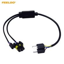FEELDO 2 pcs Simplificado H4/9003/HB2 Hi/Lo Bi-Xenon Lâmpadas HID Relé Cablagem controlador