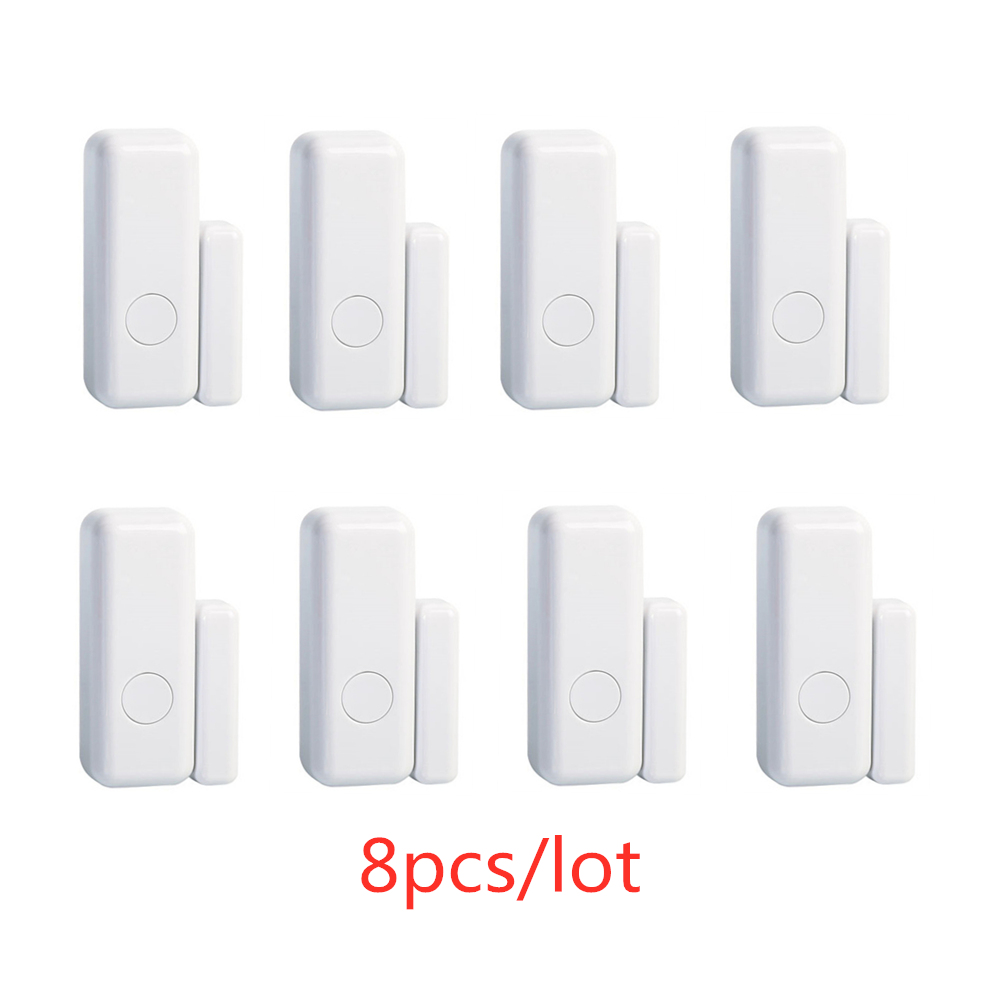 3/5/8pcs/lots WiFi 433mhz While Wireless Smart Open Window Door Sensor To Detect Door Home Alarm App Notification Alerts