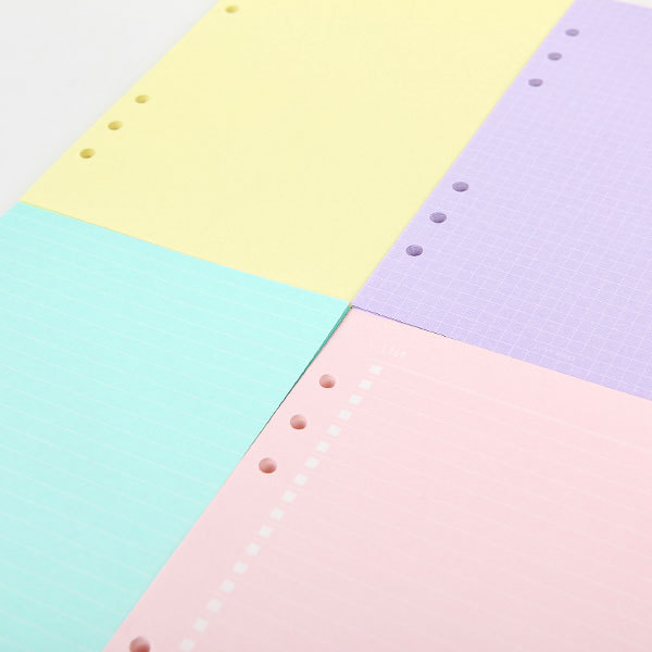 dokibook new notebook accessories a5 a6 solid color page 50pcs set inside pages planner filler papers