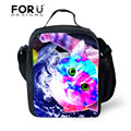 FORUDESIGNS Tumblr Style New 3D Galaxy Cat Printing Lunch Bag Pouch Storage Box  Insulated Picnic Tote High Quality
