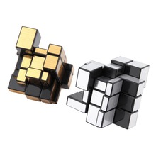 Логические iq блестящие cube серебряные блоки забавный magic головоломки зеркало малыш