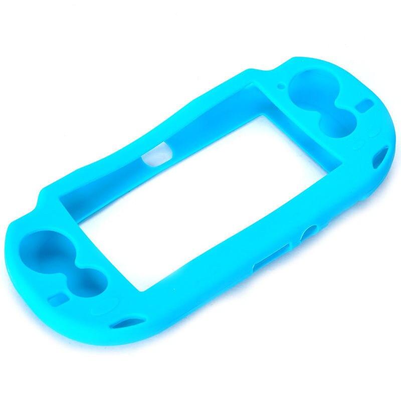 Videospielkonsolen Hellblau Schutzmaßnahmen Silikon Weiche Fall-abdeckung Haut Tasche Für Sony Ps Vita Psv üPpiges Design