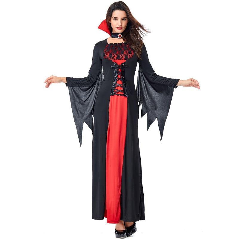 Umorden Gothic Womens Vampire Costumes Midnight Vampiress Vampira Costume Halloween Carnival Masquerade Party Fancy Dress