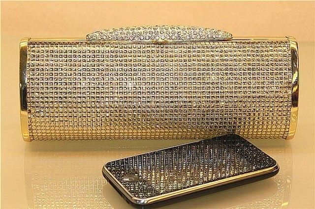 Shiny Crystal Party Bag Handcraft Dress Clutch Purse Bride Wedding Handbag