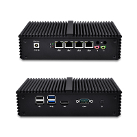 Four Lan Mini PC Celeron 3215 Core I3 4005U Core I5 4200U Core I5 5200U VPN