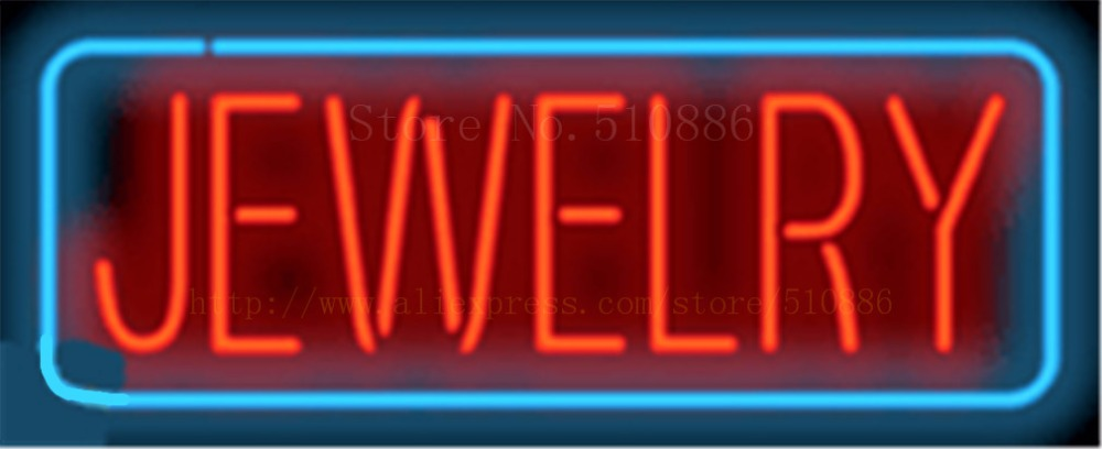 Jewelry NEON SIGN REAL GLASS BEER BAR PUB LIGHT SIGNS display Pawn Shop Restaurant Transaction Advertising gold Lights 17*14