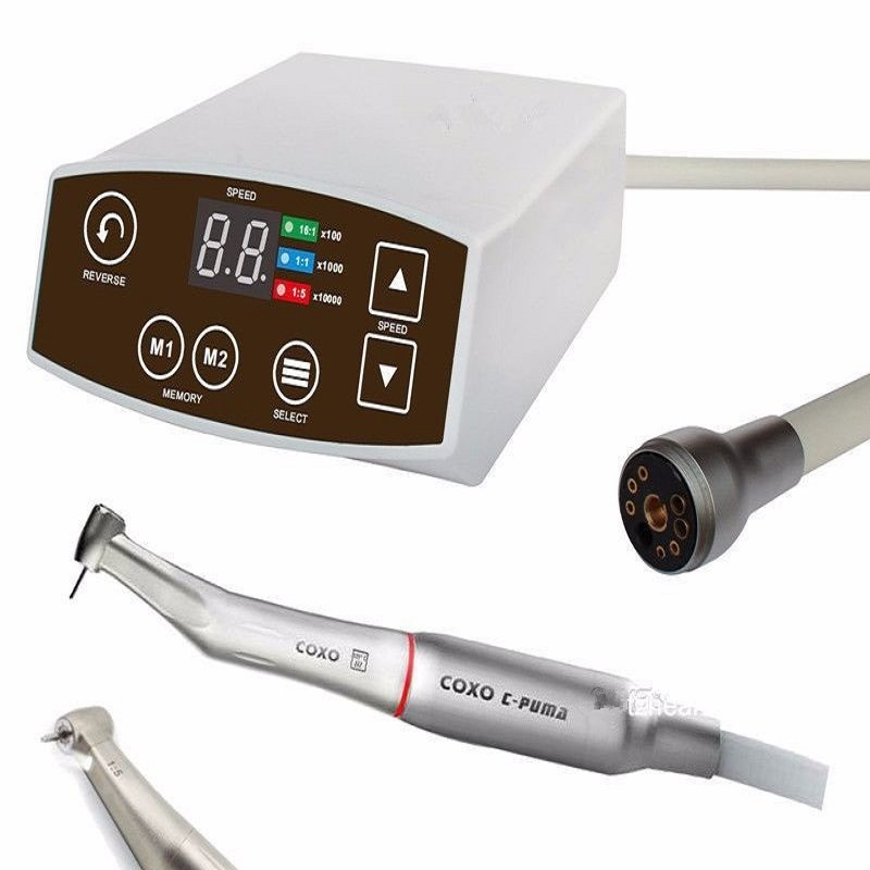 NEW 1 Set COXO Dental White LED Brushless Mini Electric Micro Motor System C-PUMA + 1:5 RED increasing