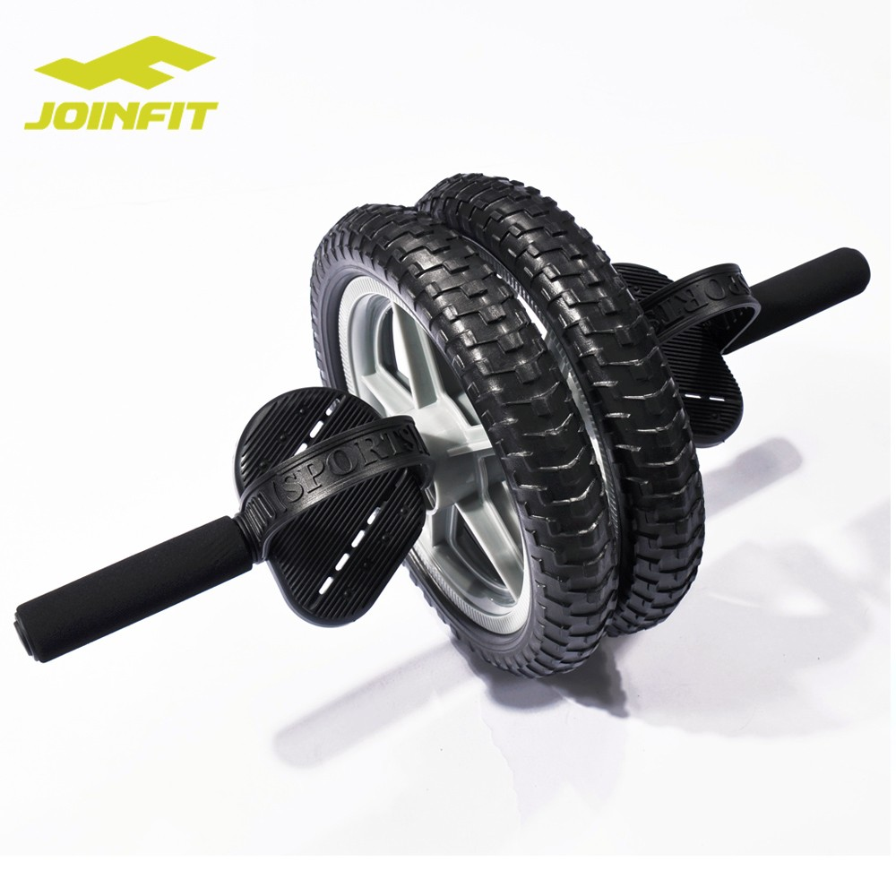 JOINFIT Advanced Abdominal Wheel Ab Roller Double Wheels for Professional Exercise Fitness Gym Equipment Accessory