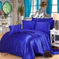 สีที่บริสุทธิ์ผ้าไหมซาตินชุดนอนหรูหรารัส