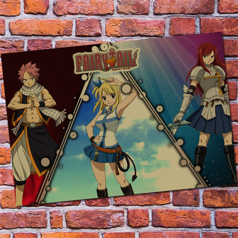 Three Fairy Tail Poster Wall