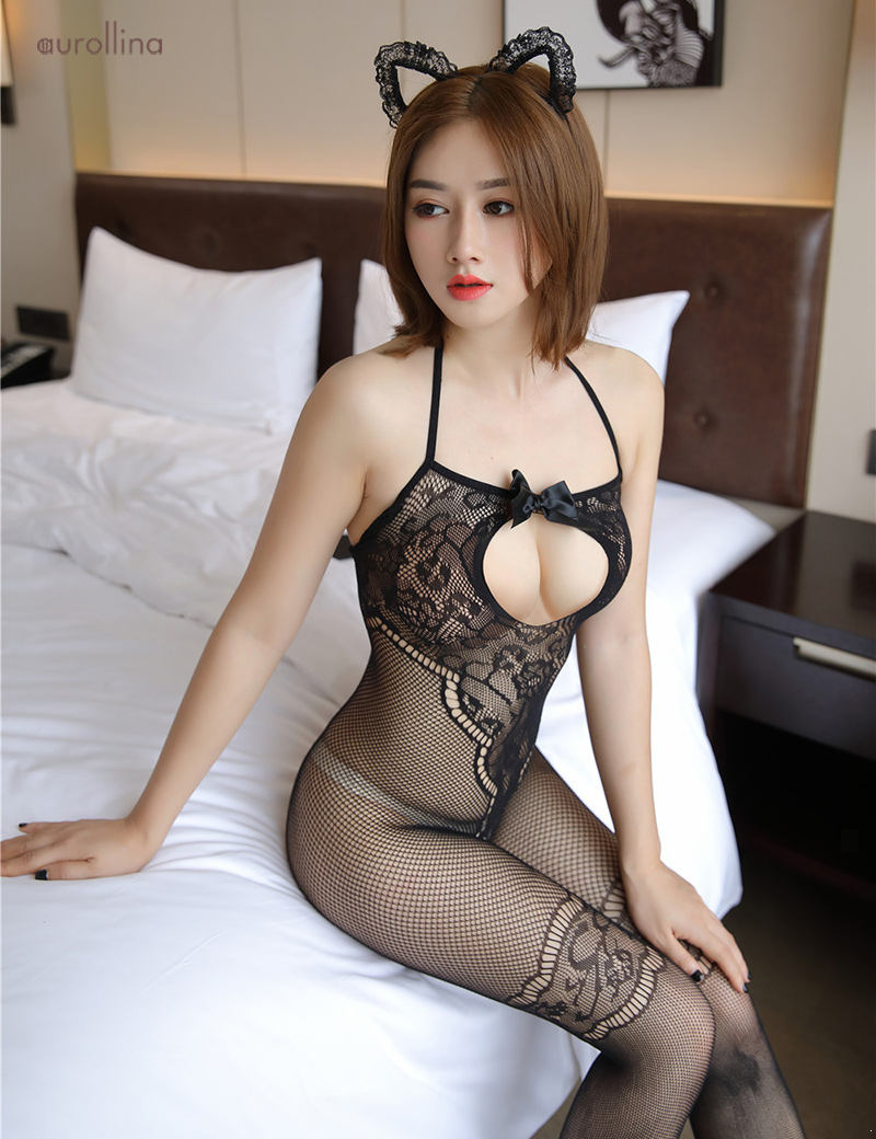 Wild  Japanese AV Star Teacher Home Tutor Stocking Pantyhose Adultery Fashion Dress Open Back Lace Detail Thigh Band Fishnet Sexy Toe Nail Festism Bodysuit (2)