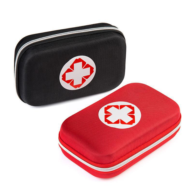 Black And Red Color First Aid Kits Portable Outdoor Survival Disaster Earthquake Emergency Bags Vehicle Mounted Medical Package
