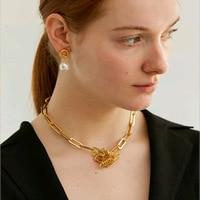 Cold Metal Wind Link Chain Choker Necklace 2018 Fashion Jewellery For Women Colar Gargantilla
