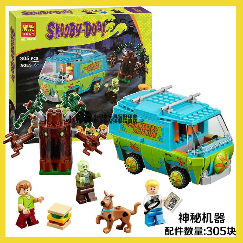 Pogo BELA 10430 Scooby-Doo Mystery Machine Scooby Doo Building Blocks Bricks Toys Compatible Legoe bela scooby doo haunted lighthouse building block model kits scooby doo marvel toys compatible legoe