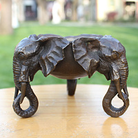 animal head real pure Brass statues Elephant Ashtray first copper sculpture decoration crafts ashtray like Home business gifts