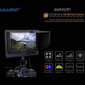 """Lilliput 7"""" HD LCD field monitor HDMI in&out 665/O/P w/ Peaking , false color and exposure for full hd camera 5D2/7D/5D3/D800"""