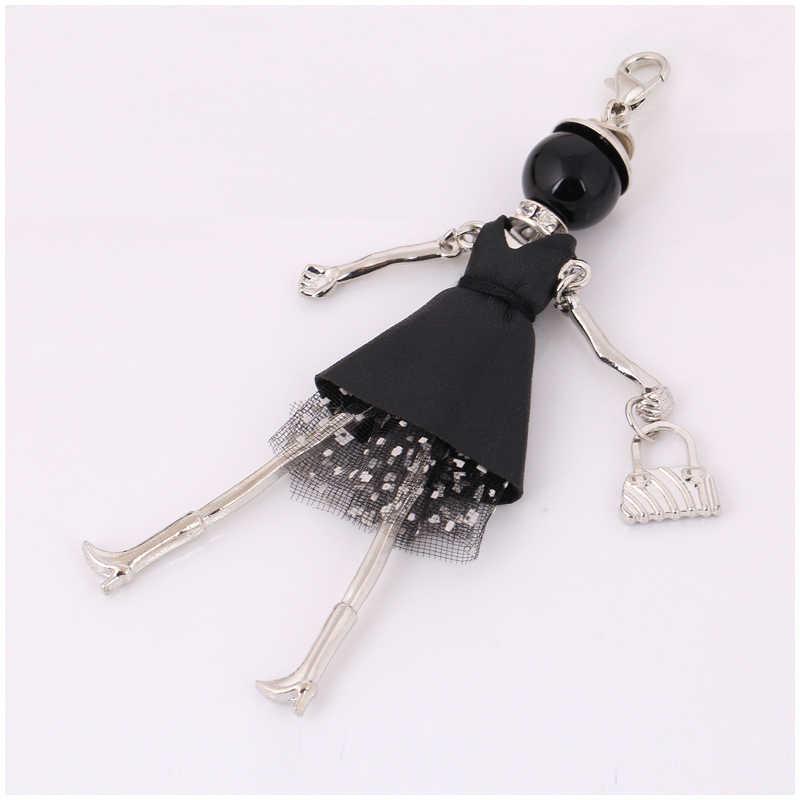 Moda chaveiros frete grátis nova boneca bonito chaveiro & chaveiro saco encantos pingente de carro para as mulheres bolsa kryrings
