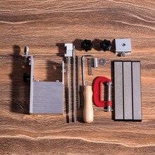 Yeni 360 döner bıçak bileyici bileme sistemi bıçak Apex kenar kalemtıraş ile 3 adet elmas whetstone 240 #600 #1000 #