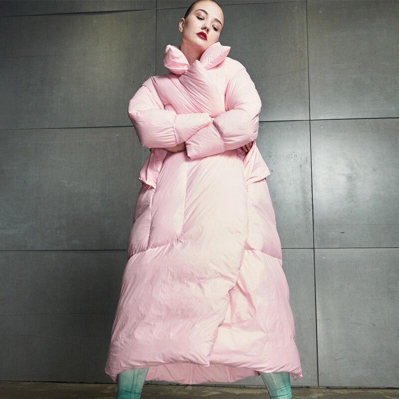 2018 New Winter Women   Coat   Jacket Warm High Quality Female Long   Down   Park Jacket Winter   Coat   Hood Women's White Duck   Down   Jacket