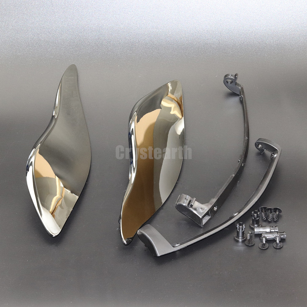 2Pcs Chrome Smoke Motorcycle Air Deflectors Batwing Fairing Side Wings For Harley 2014-up Electra Glide Street Glide Tri Glide taoffen women high heels shoes women thin heeled pumps round toe shoes women platform weeding party sexy footwear size 34 39
