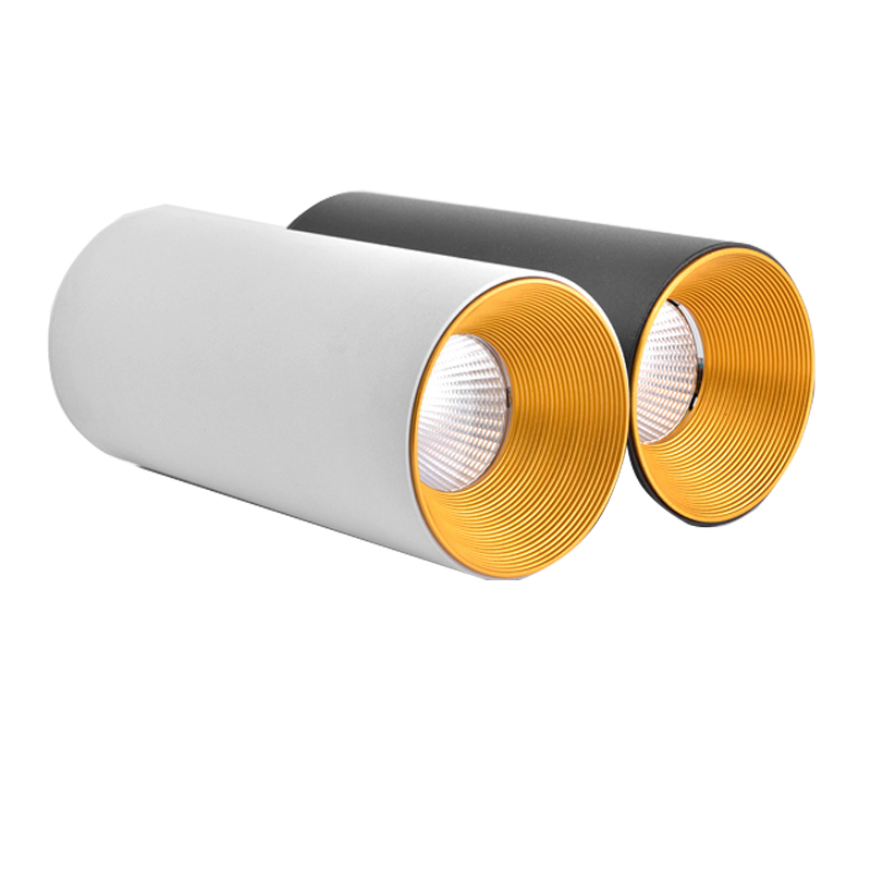 Surface Mounted Cylindrical LED COB Downlight Gold Reflector 5w 7w 12w 20w LED Ceiling Bulbs Lamp Spot Light LED Downlight