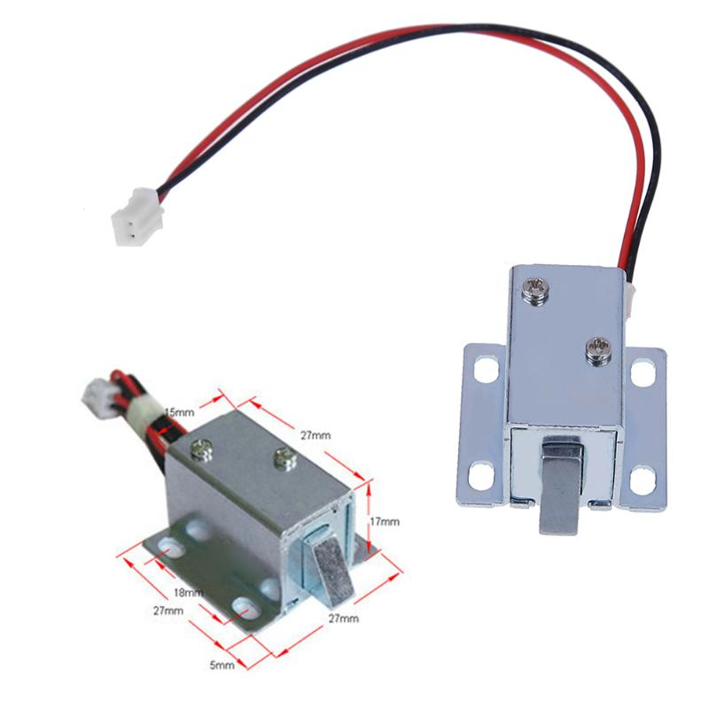 Hot Sale Mini DC 6V/12V Electric solenoid Lock small electromagnetic lock Cabinet Door Electric Lock Assembly Solenoid Lock Mini dc 24v 0 77a door lock tubular electric solenoid coil