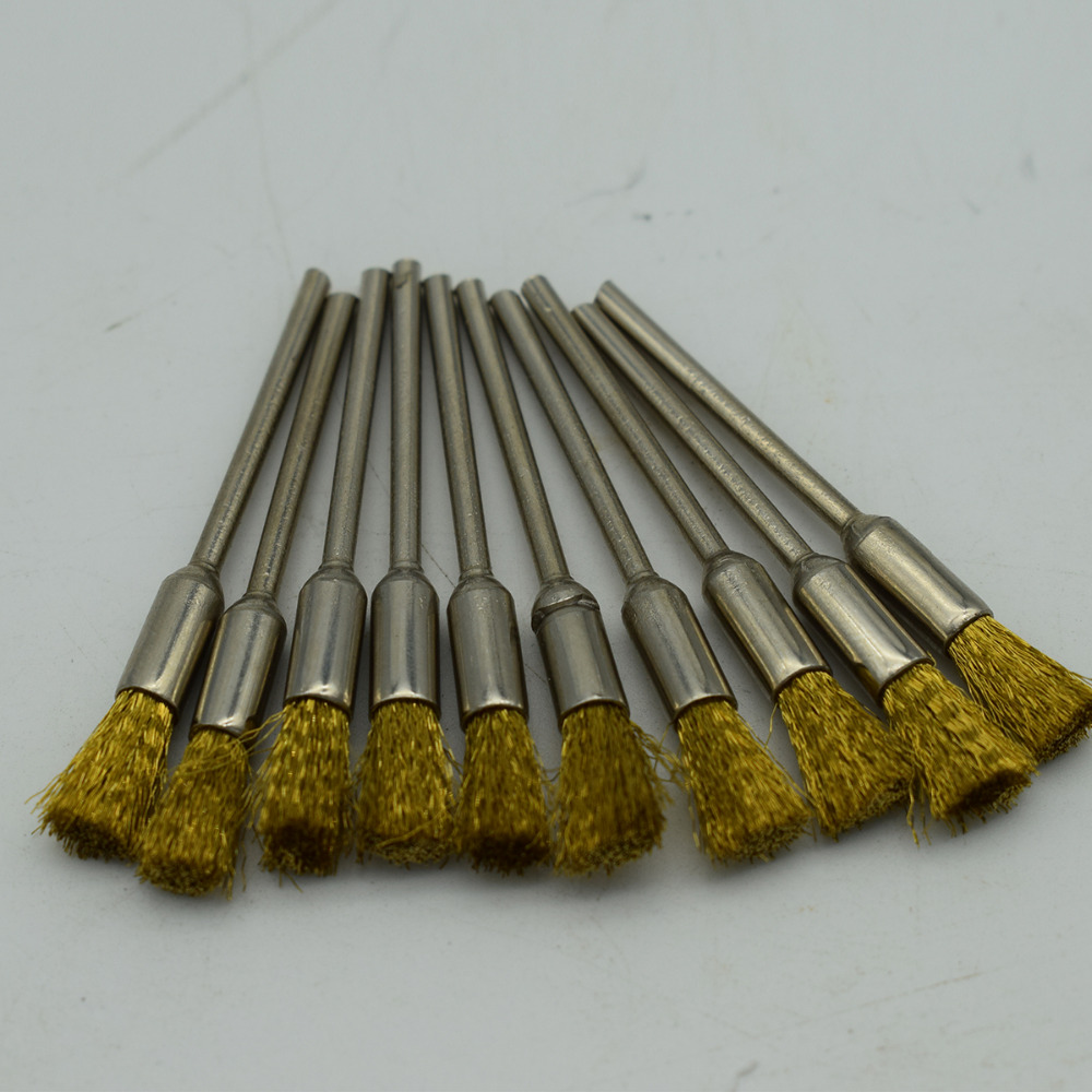 100PCS Jewelry Polishing Brushs Brass Wire with 2.325mm