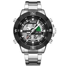 цена Readeel New Brand Luxury Men Watches Man Stainless Steel Army Military Sport Led Quartz-Watch Clock Male Hodinky Relojes Hombre онлайн в 2017 году