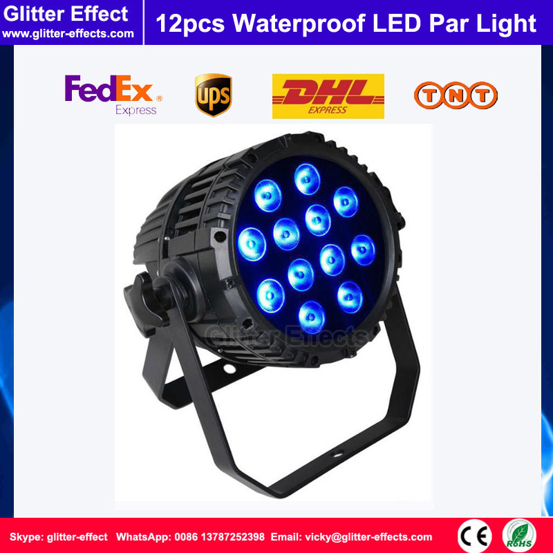 DJ Stage 12pcs LED Waterproof Par light RGBW 4 in Super star 12x10W Stage Disco Wedding Concert Party Light