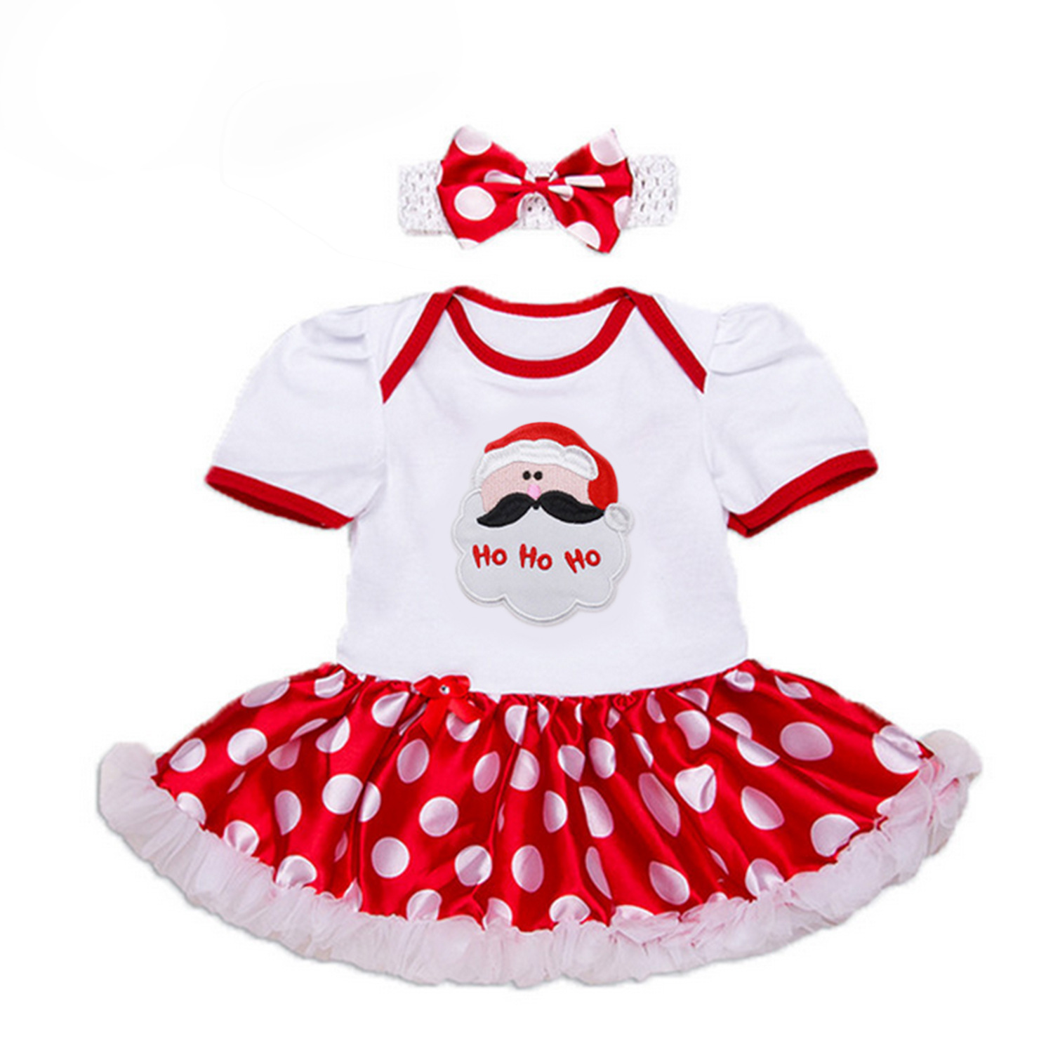 Baby Girl Infant 3pcs Clothing Sets Suit Princess Tutu Romper Dress Jumpsuit Xmas Bebe Party Birthday Costumes Christmas Santa baby girl infant 3pcs clothing sets tutu romper dress jumpersuit one or two yrs old bebe party birthday suit costumes vestidos