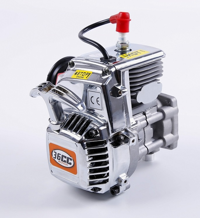 Rovan 36cc 4 Bolt Motor Gasoline Engine for 1/5 KM Rovan HPI Baja 5b 5t 5sc Losi 5ive-T DBXL MTXL DDT T1000 FG PARTS piston kit 36mm for hpi baja km cy sikk king chung yang ddm losi rovan zenoah g290rc 29cc 1 5 1 5 r c 5b 5t 5sc rc ring pin clip