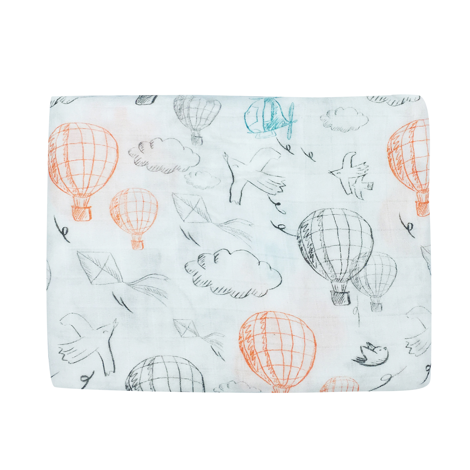 Bamboo Cotton Baby Swaddle Wrap Cotton Baby Muslin Blanket Newborn Infant Flower Print Blanket