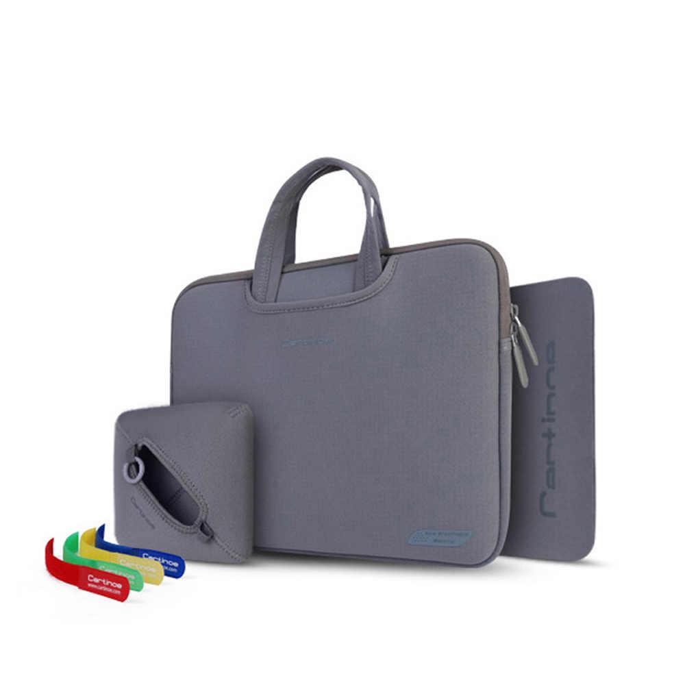 Портативная сумка для ноутбука 11, 12, 13, 14, 15 дюймов, сумка для компьютера, мужская и женская сумка, деловой портфель, чехол для Macbook Air 11 Pro 13