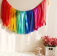 35CM Height Coloured Ribbon Garland For Wedding Party Decoration